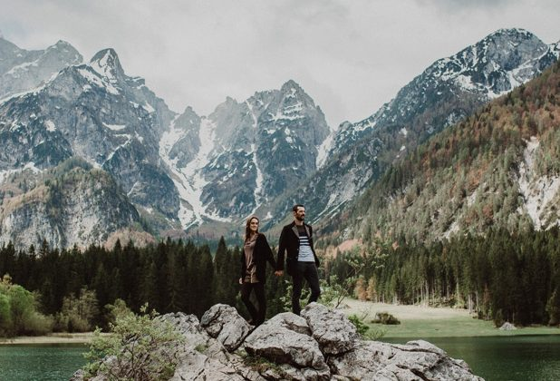 Engagement session at Julian Alps | Charlotte & Fabien