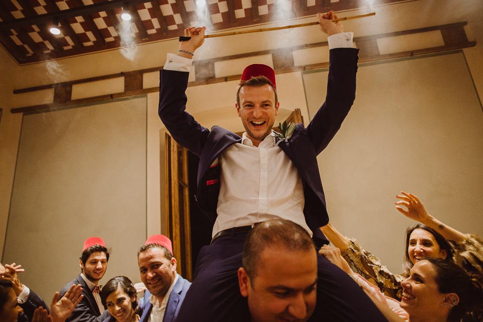 tuscany wedding party