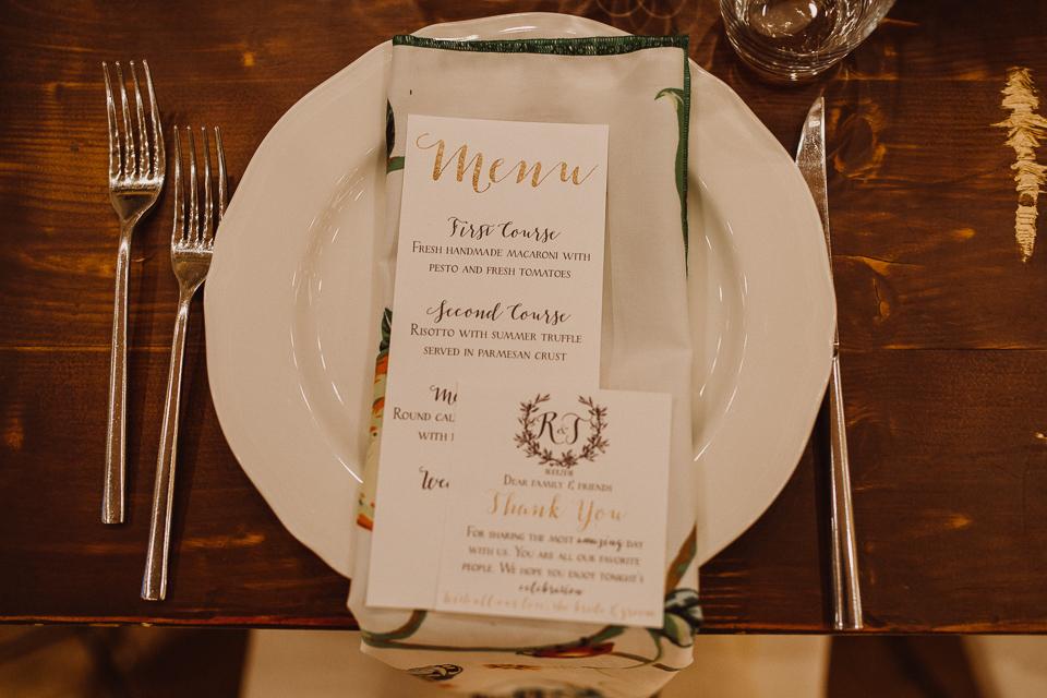 wedding dinner in tuscany